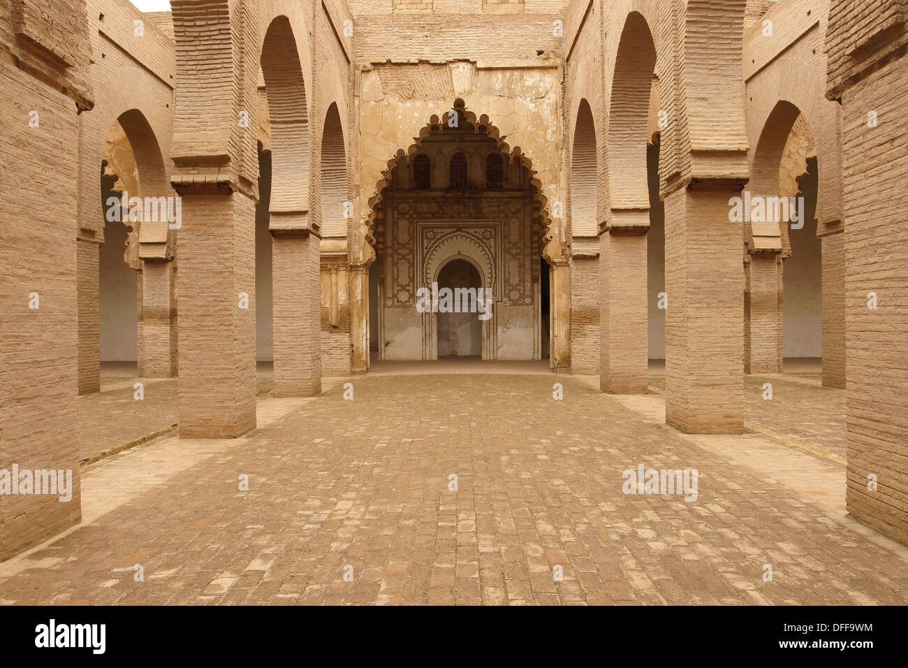 Tin Mal, la Mosquée de Tinmel, XII siècle, Ifouriren Road, Tizi-n-Test, Atlas, Maroc, Afrique Photo Stock