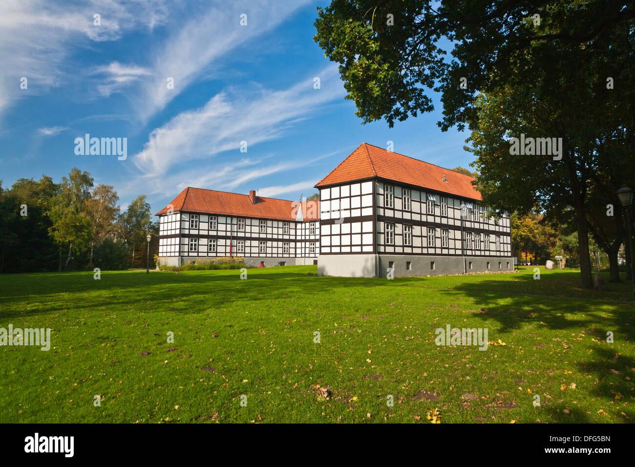 L'administration de comté immeuble de bureaux à Harpstedt, Basse-Saxe, Allemagne, Europe Banque D'Images