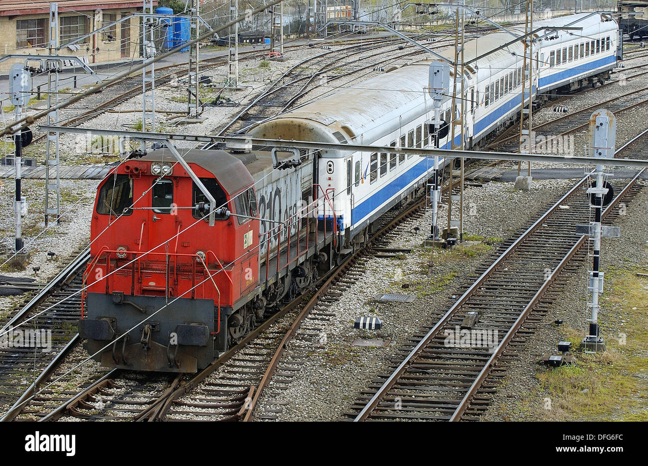 52c91b7c3ad La gare. Irun. (Guipúzcoa) frontière espagnol-français Banque D ...