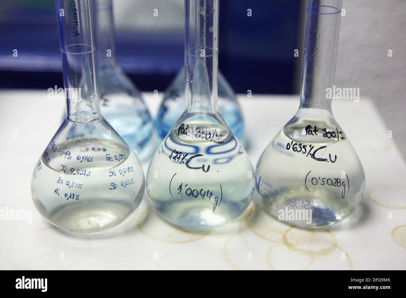 Laboratoire de chimie, la recherche sur les matériaux Photo Stock