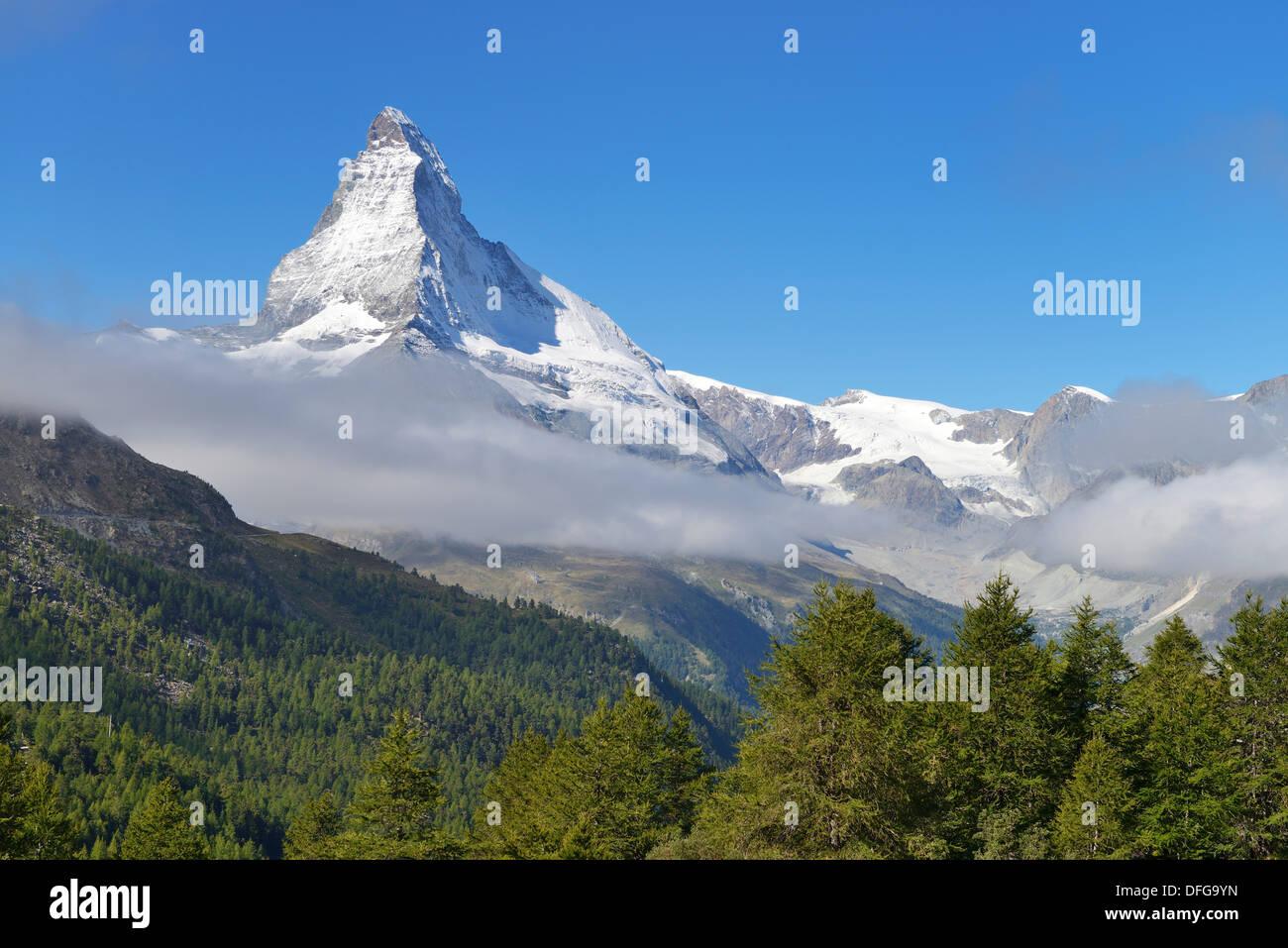 Matterhorn, Valais, Canton du Valais, Suisse Photo Stock