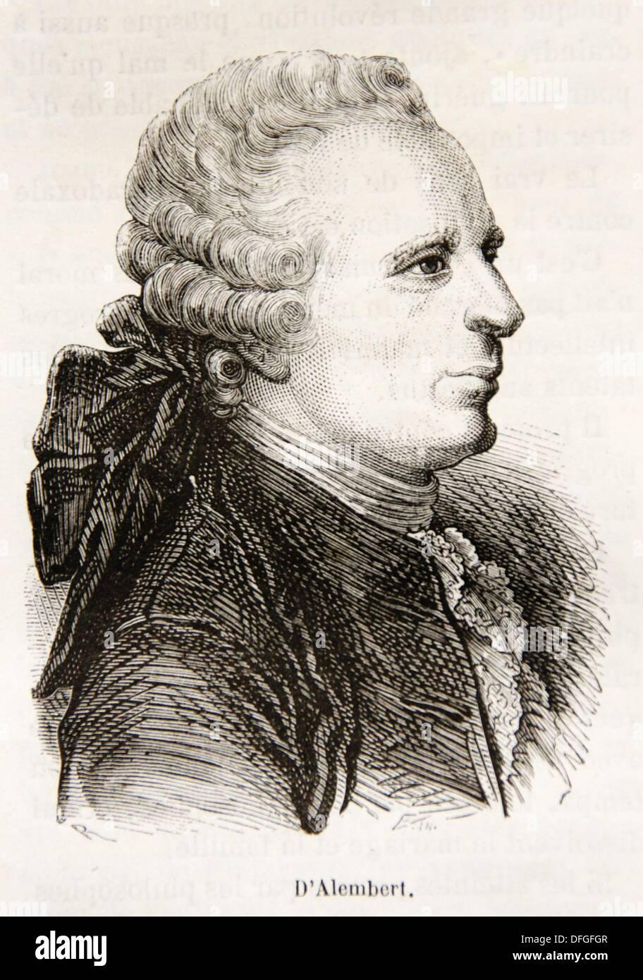Jean Le Rond D'Alembert (16 novembre 1717 - 29 octobre 1783) était un mathématicien français, physicien et scientifique américain, Photo Stock