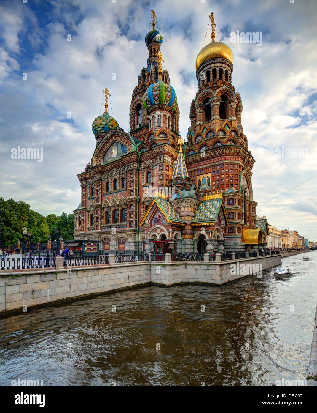 Eglise du Sauveur sur le sang à Saint-Pétersbourg, en Russie. Photo Stock