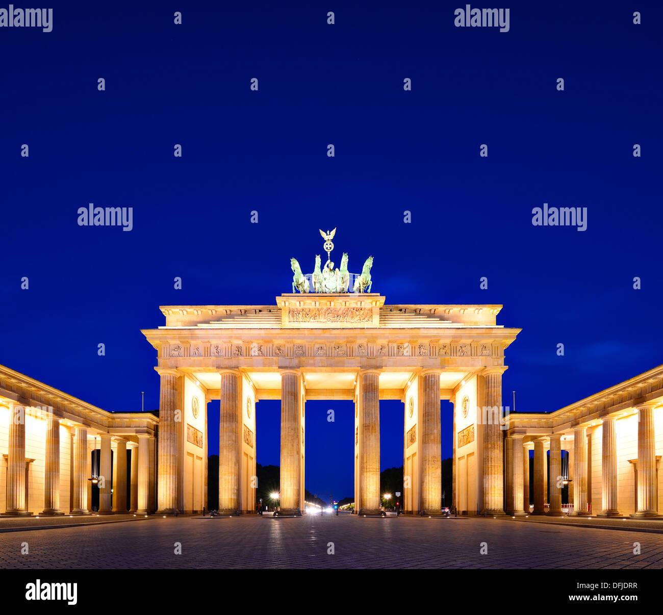 La porte de Brandebourg à Berlin, Allemagne. Photo Stock