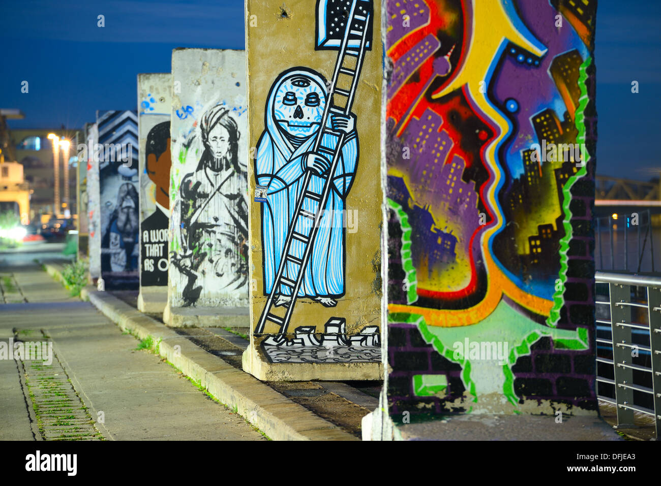 Morceaux du Mur de Berlin. Photo Stock