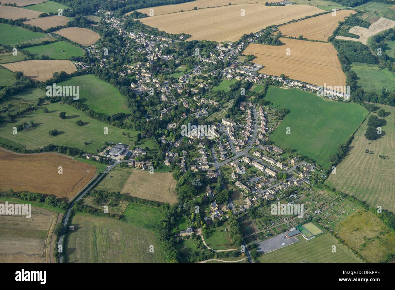 Photo aérienne de Blockley Photo Stock