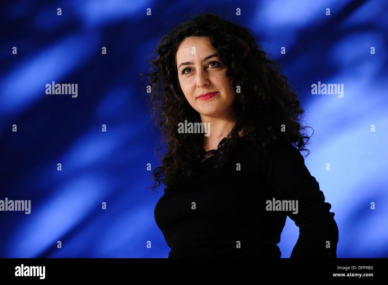 Sema Kaygusuz, auteur turc, assistant à l'Edinburgh International Book Festival, le samedi 17 août 2013. Banque D'Images