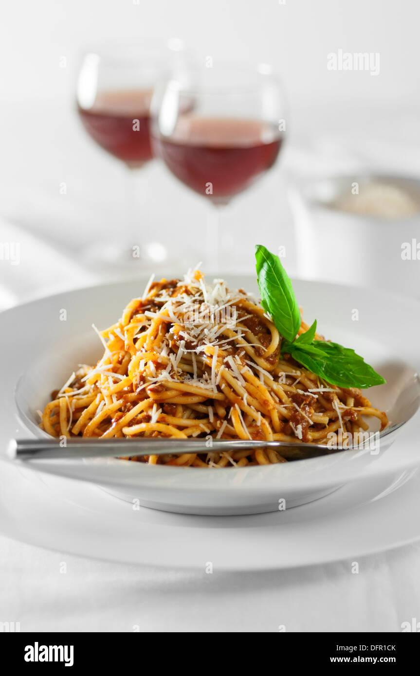 Cuisine italienne Spaghetti bolognese Photo Stock