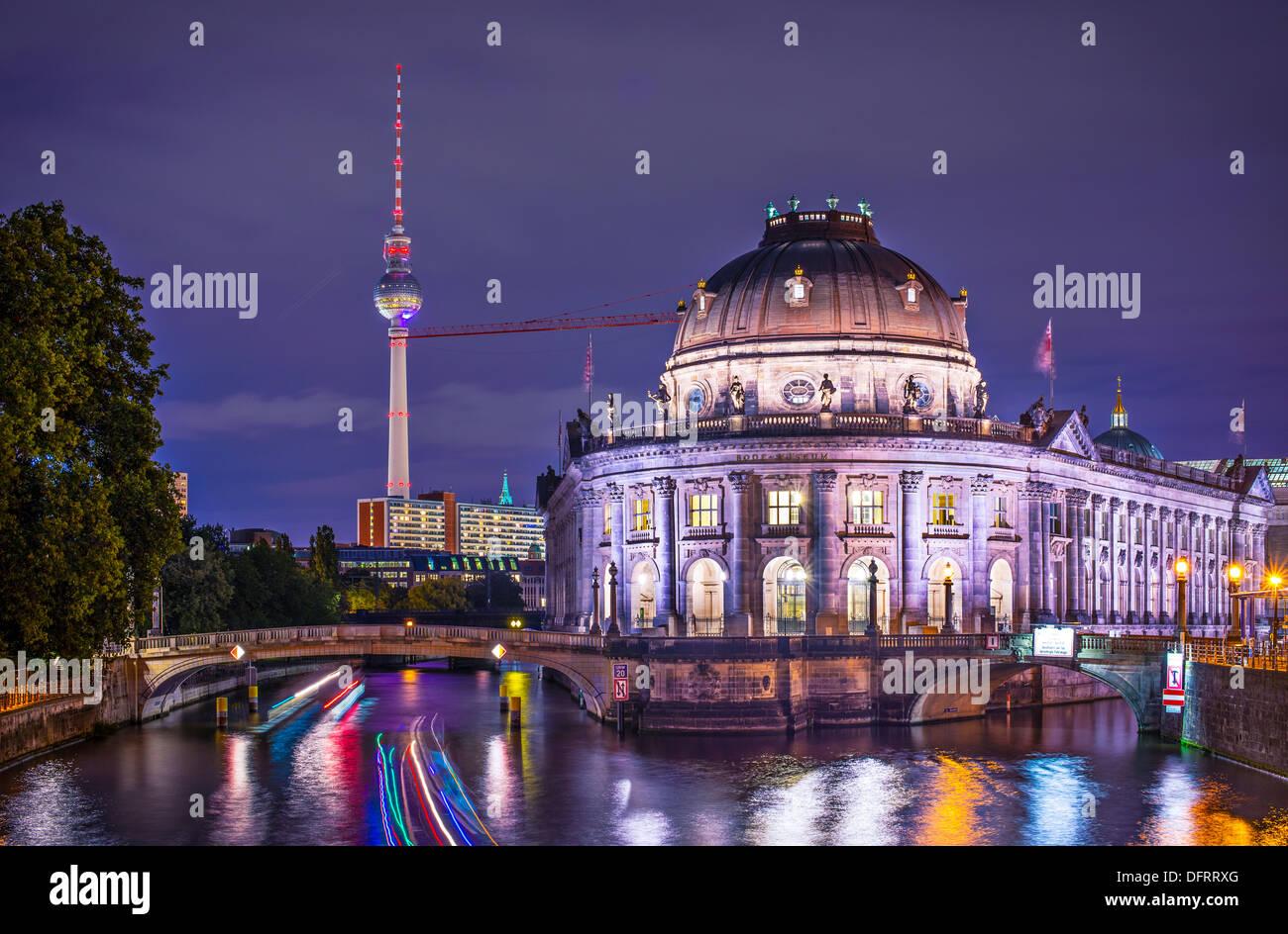 L'île des musées et la tour de télévision de Berlin, Allemagne. Photo Stock