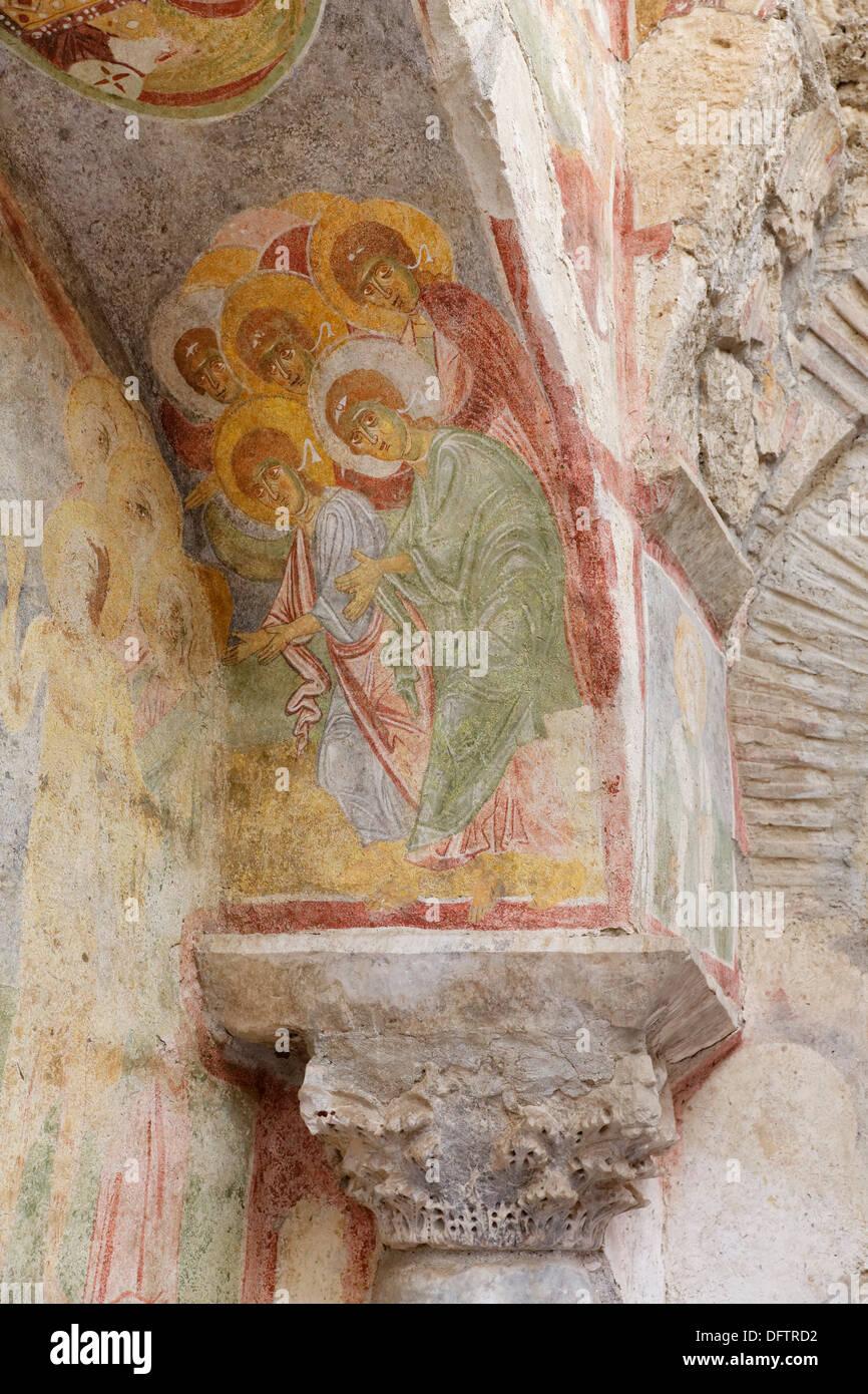 Fresco, l'église Saint-Nicolas ou Noel Baba Kilisesi, Demre, Lycie, Province d'Antalya, Turquie Photo Stock