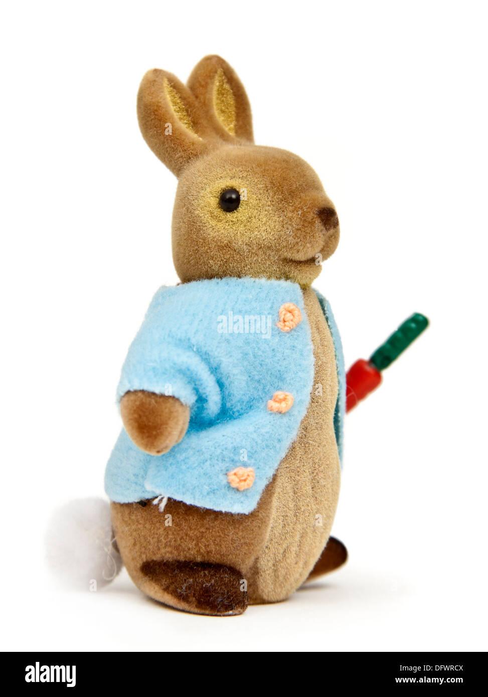 """Peter Rabbit plush toy basée sur """"Le conte de Pierre Lapin' par Beatrix Potter Photo Stock"""