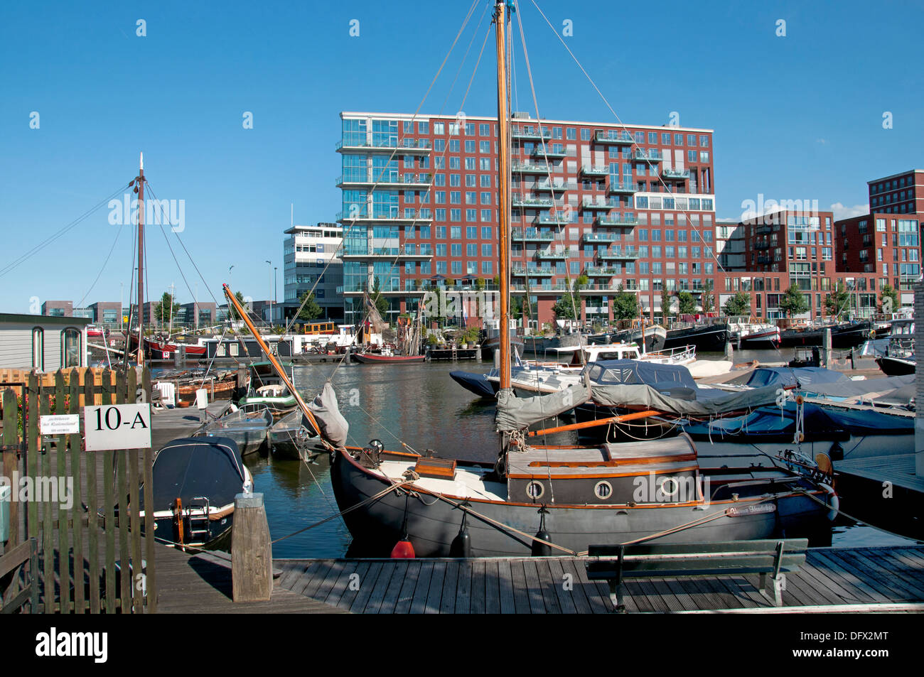 Westerdock Amsterdam Pays-Bas architecture moderne Photo Stock