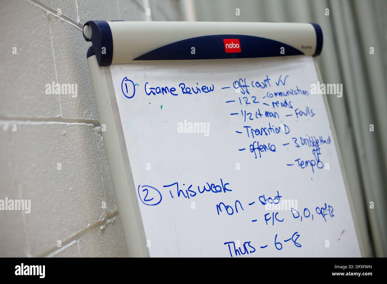 Carte blanche à sports hall Photo Stock