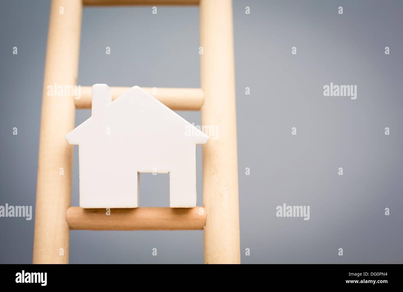 Image pour illustrer le concept du marché du logement Banque D'Images