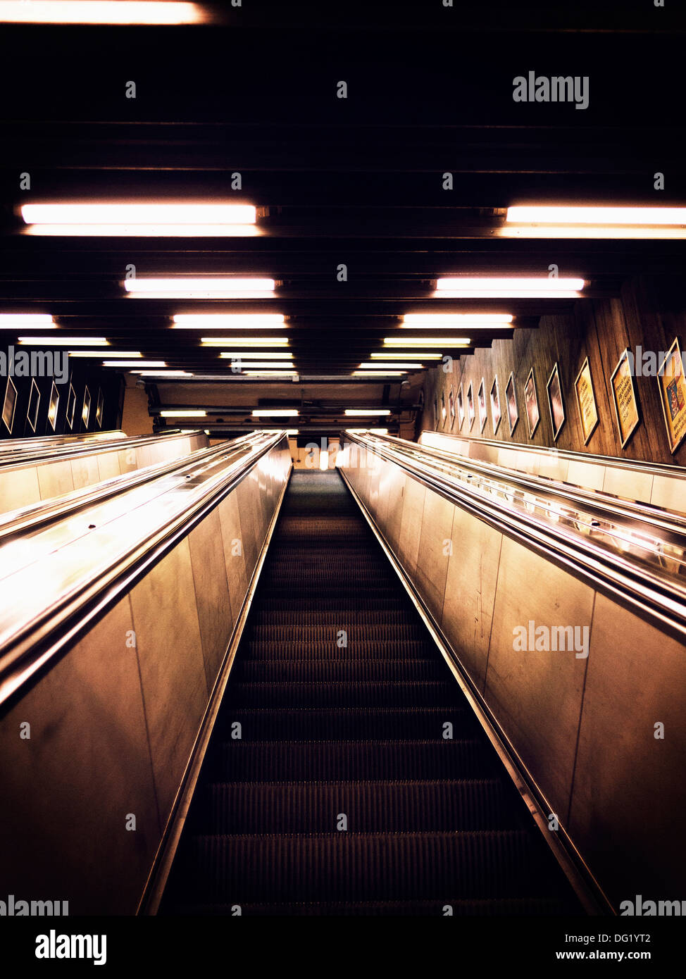 Escalator, Low Angle View Photo Stock