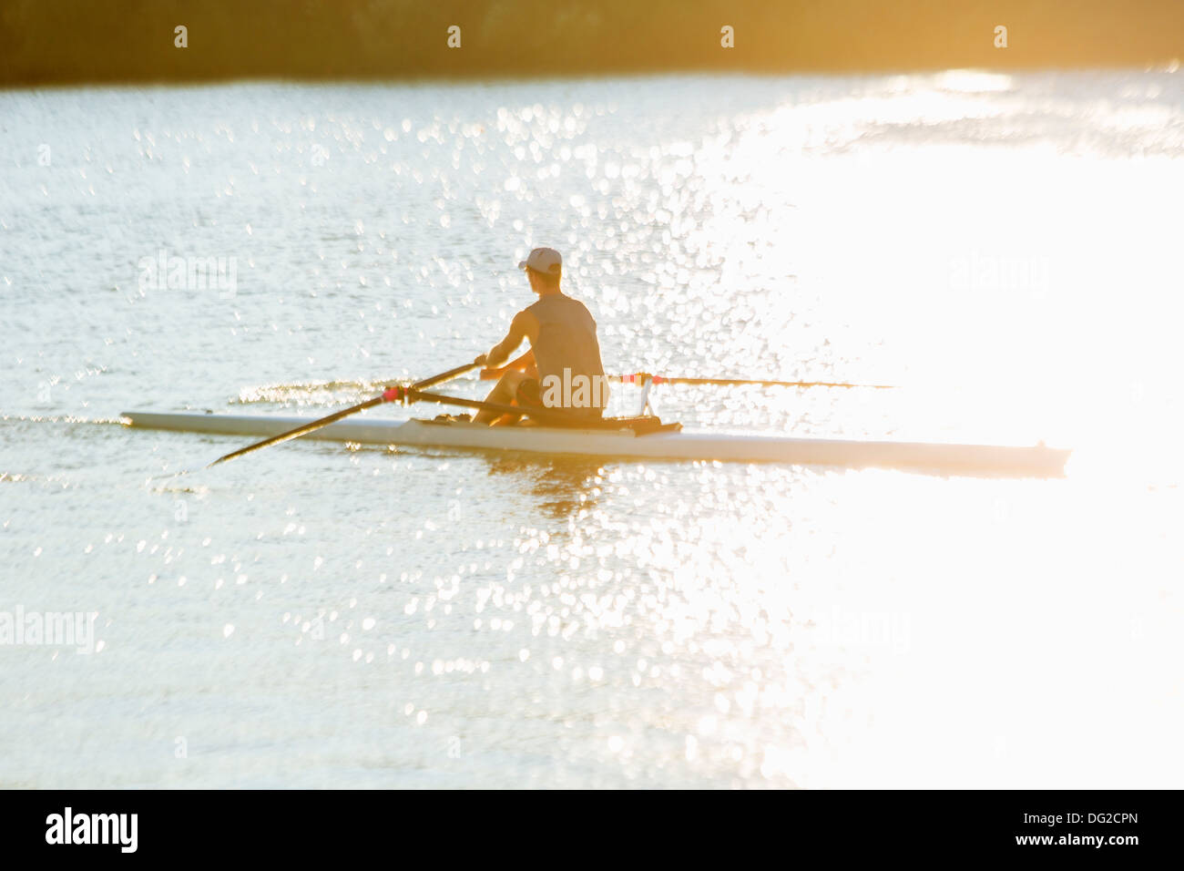 Canada,Ontario,Saint Catharines, Royal Henley Regatta, des célibataires l'aviron Photo Stock