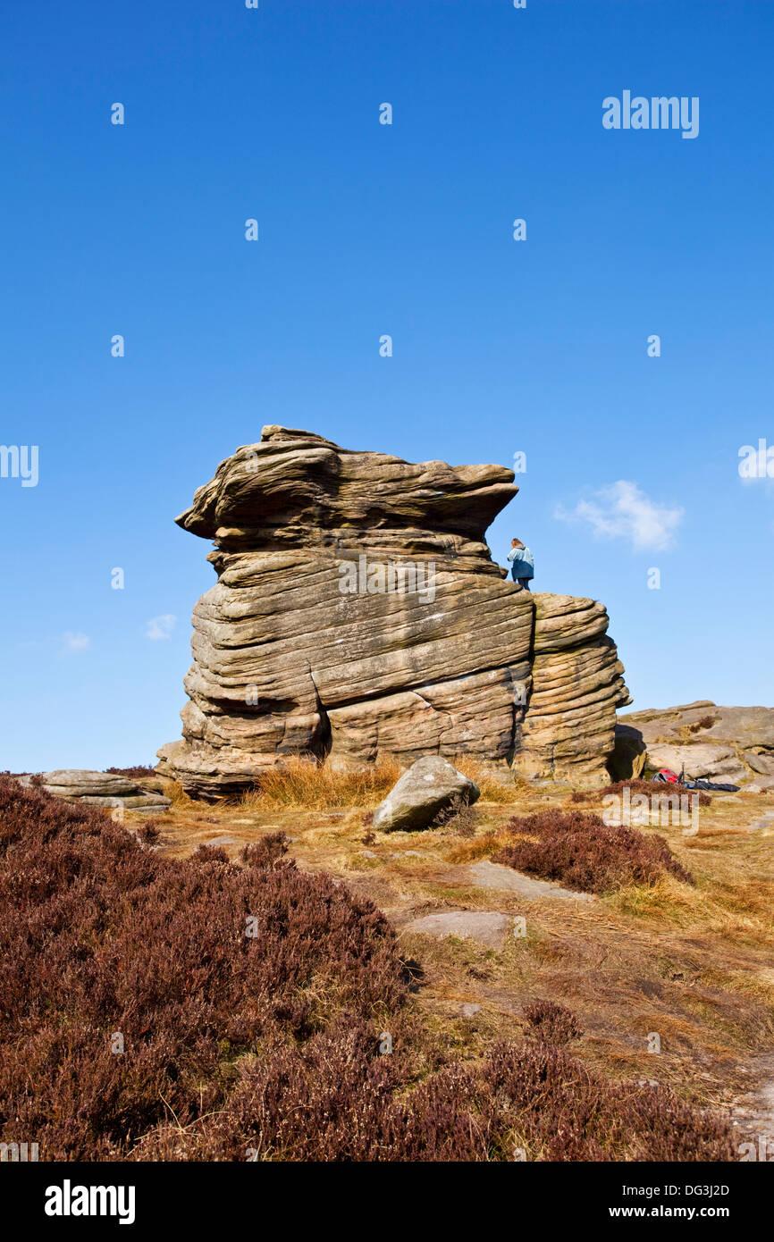 La mère rock formation Peak District UK Banque D'Images