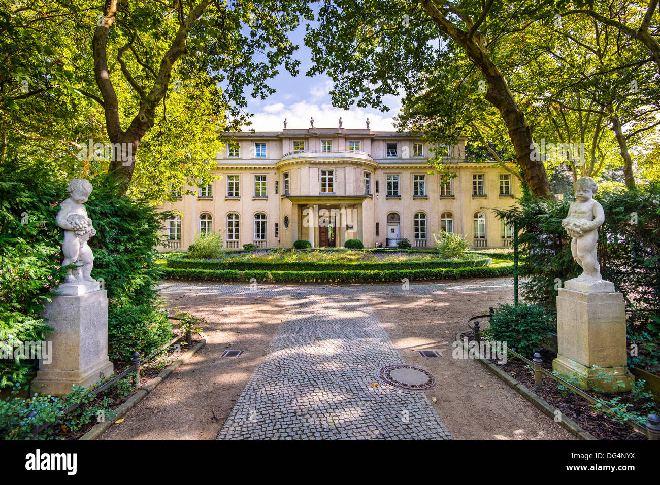 Maison de Wannsee à Berlin, Allemagne. Photo Stock