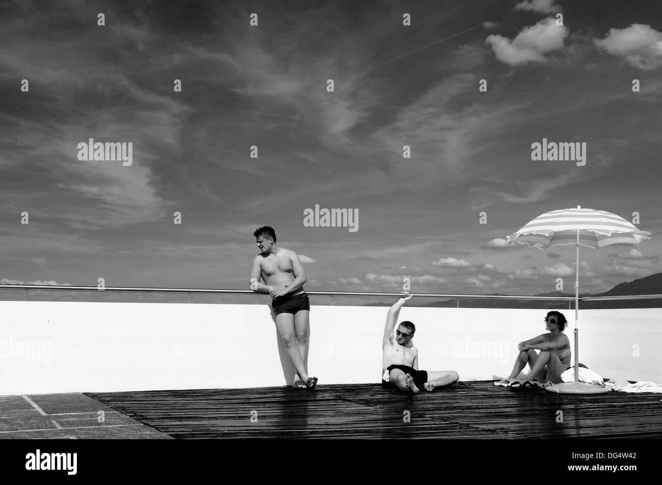 Journée de farniente en été Photo Stock