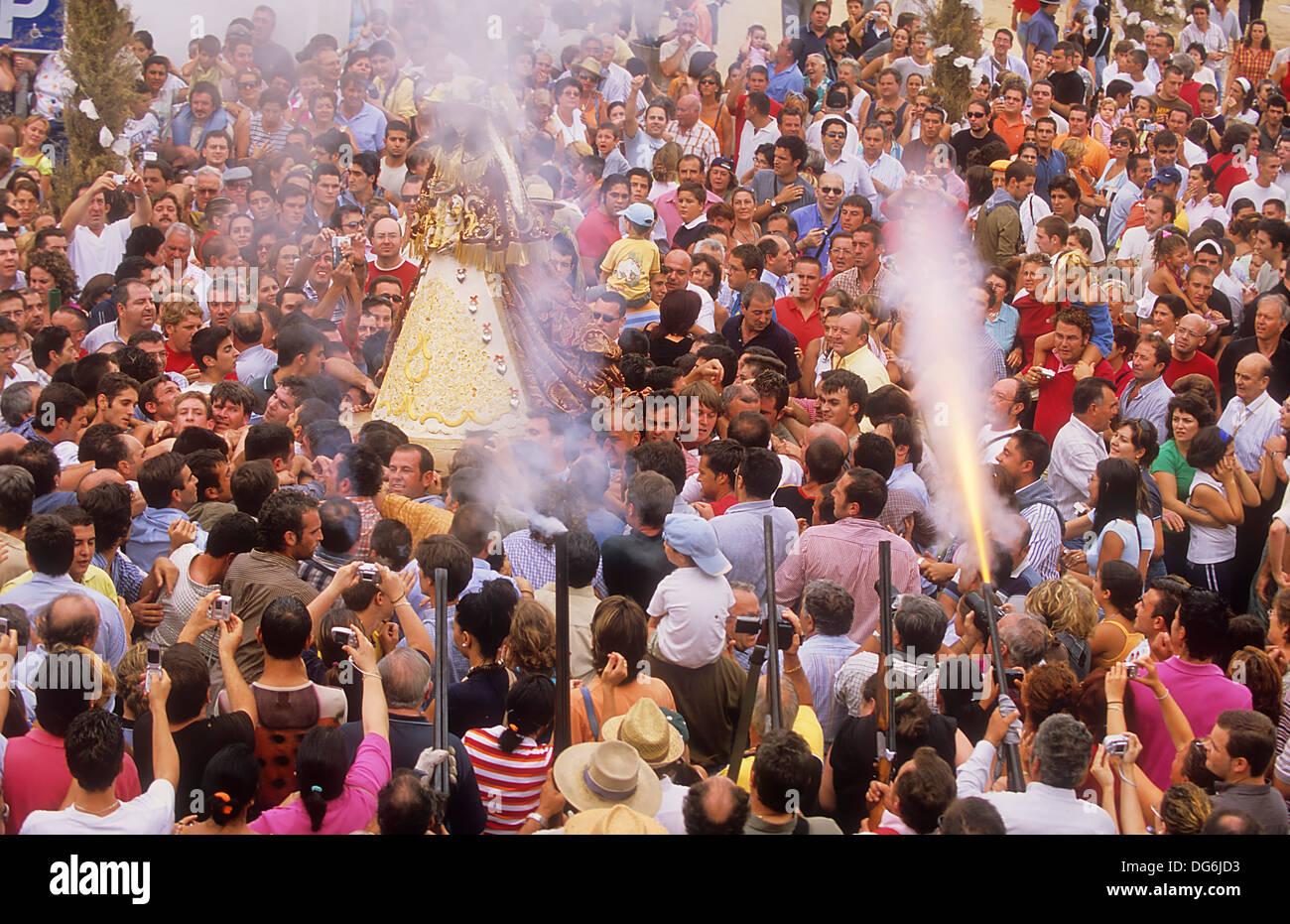 El Rocio pilgrimage, Andalousie Photo Stock