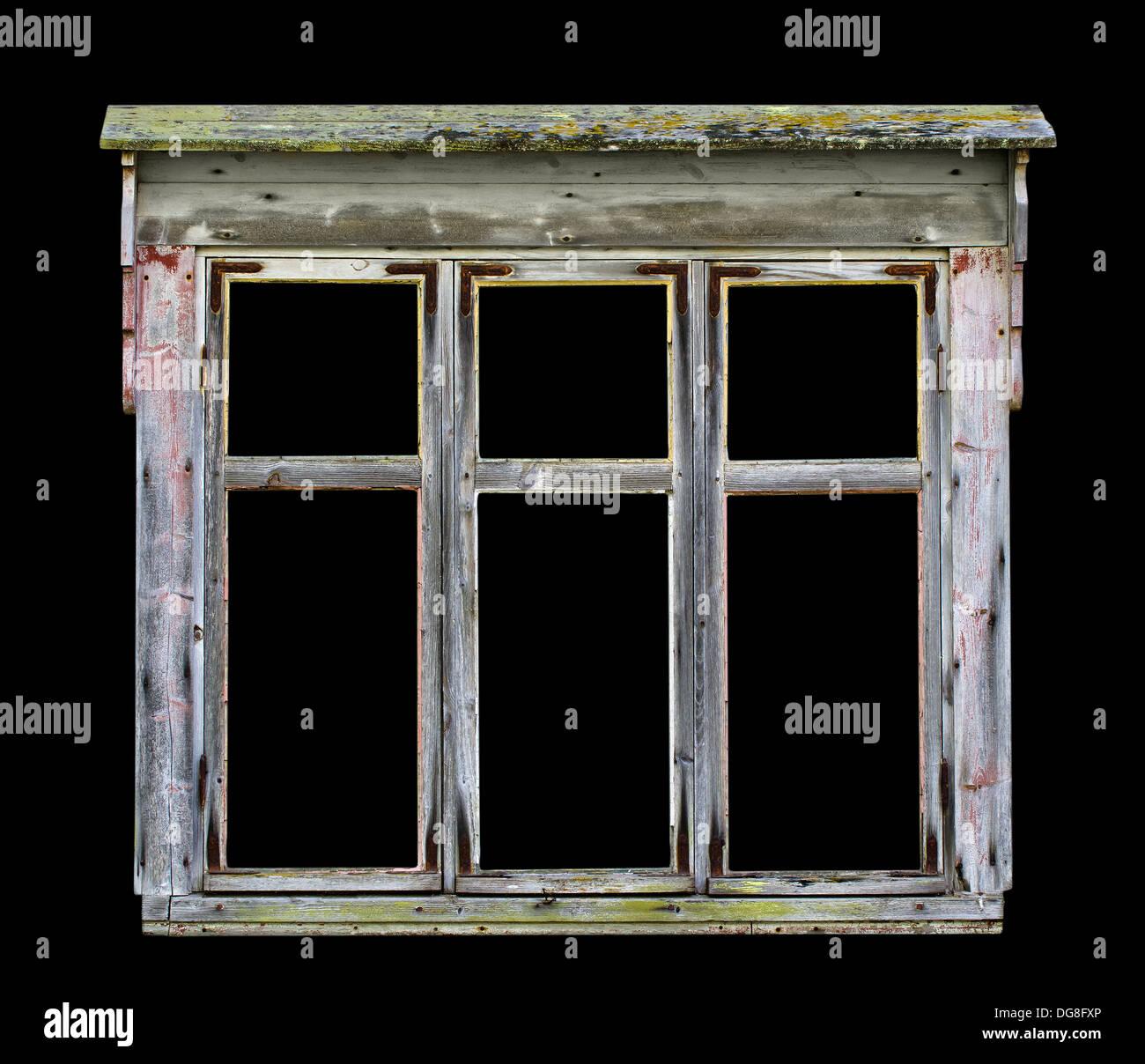 Ancien Cadre De Fenêtre En Bois Rustique Pour Les Photos Et