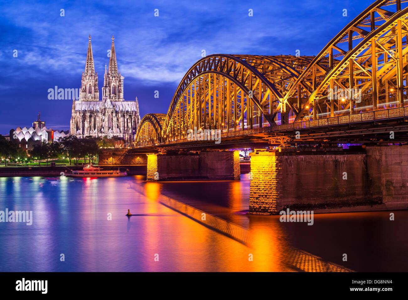 Cathédrale de Cologne à Cologne, Allemagne. Photo Stock
