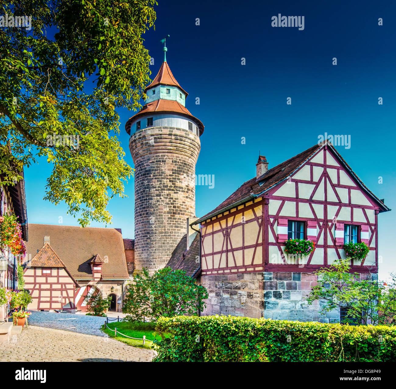 Château de Nuremberg Nuremberg, Allemagne. Photo Stock