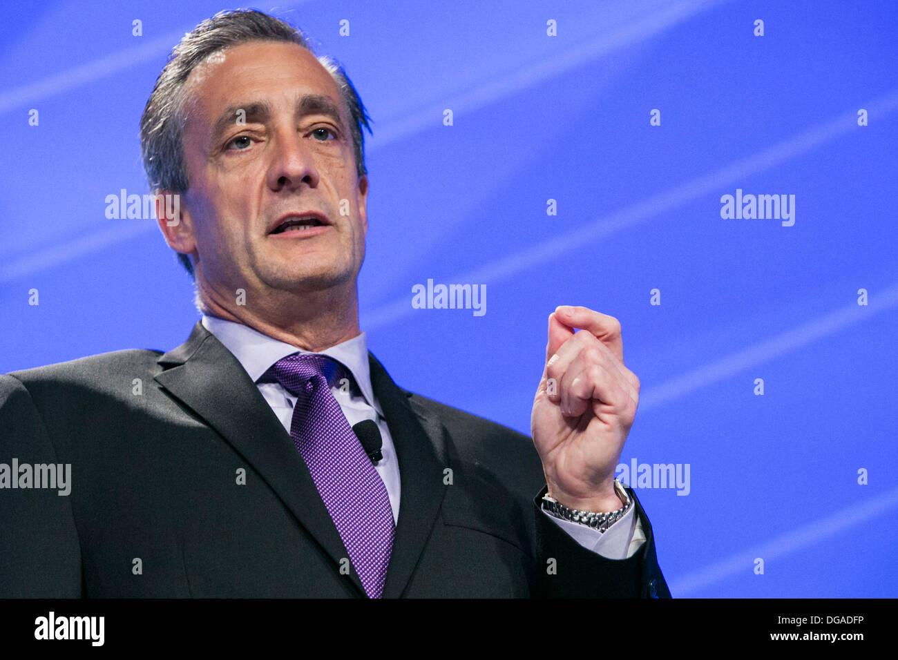 David P. Steiner, chef de la Direction de la gestion des déchets, Inc. Photo Stock