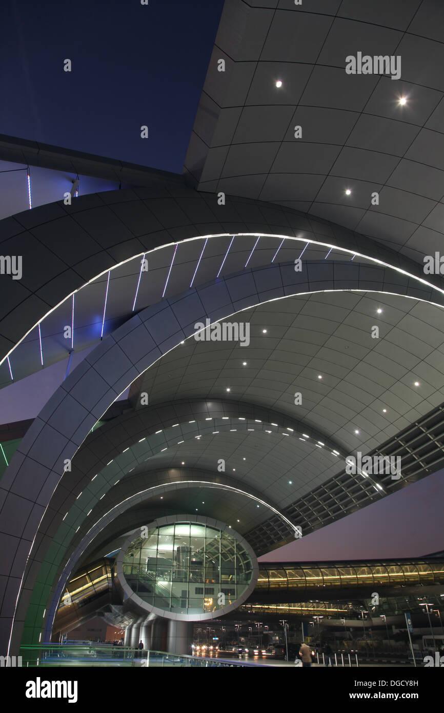 L'aéroport de Dubaï, Terminal 3 trois de l'aviation des EAU Photo Stock