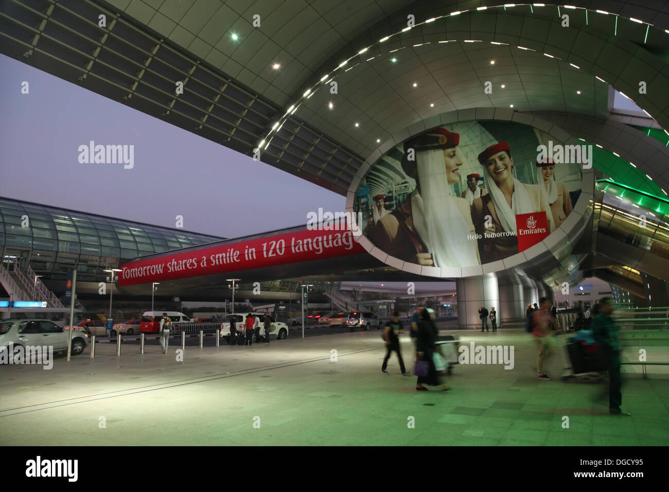 L'aéroport de Dubaï, Terminal 3 trois de l'aviation des EAU Banque D'Images