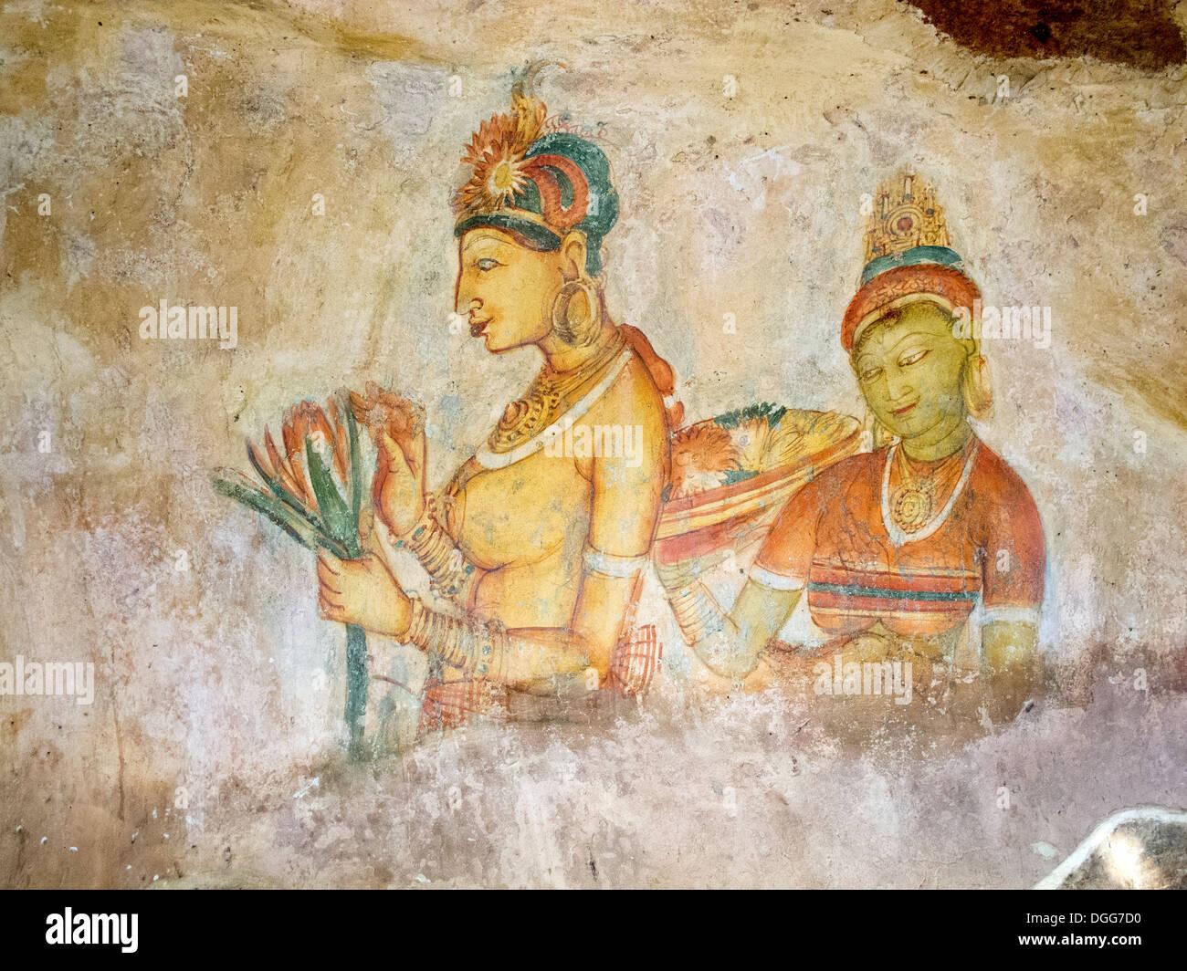 Le miroir au mur , Sri Lanka Sigiriya Photo Stock