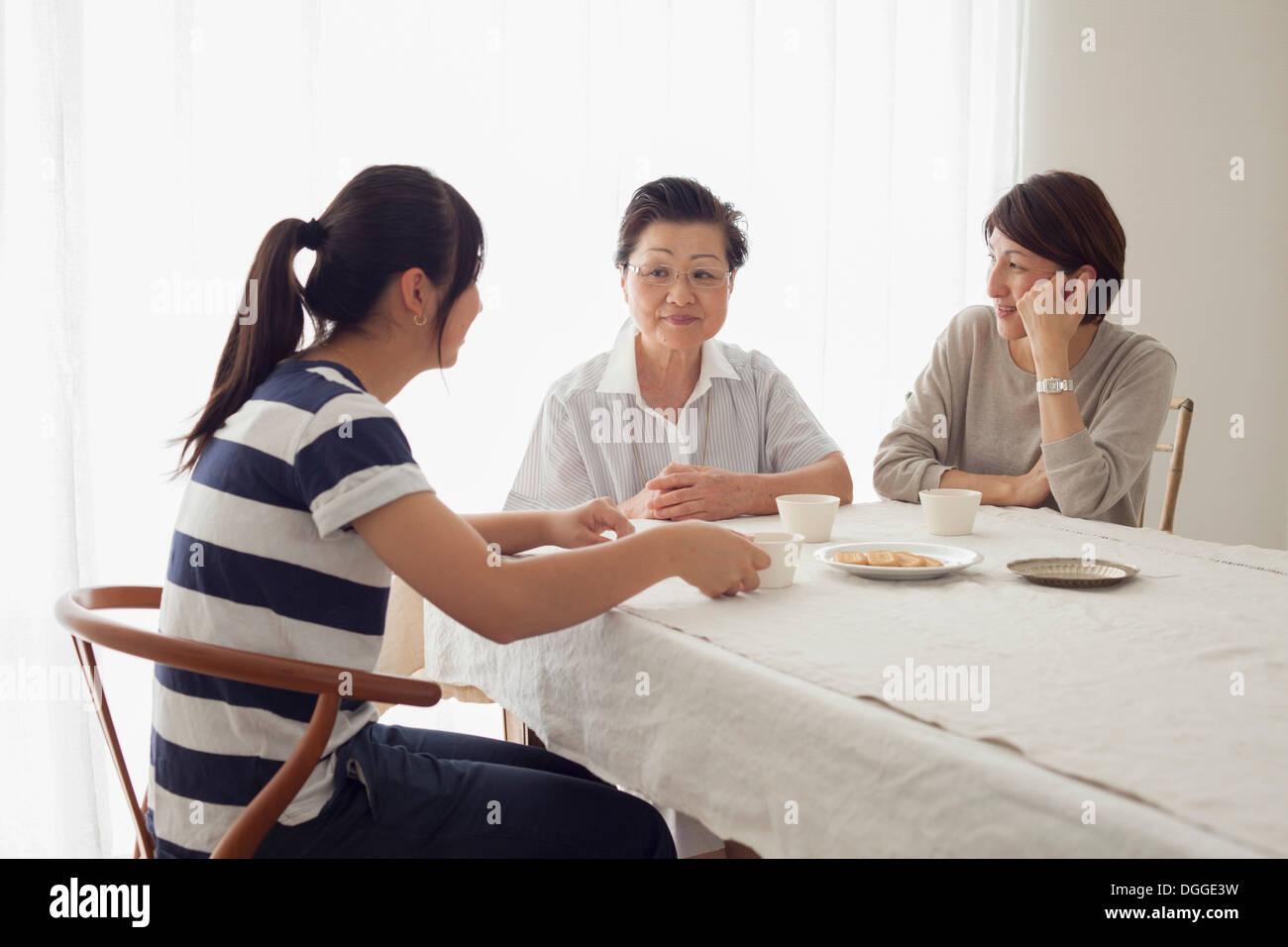 Image famille à trois Photo Stock