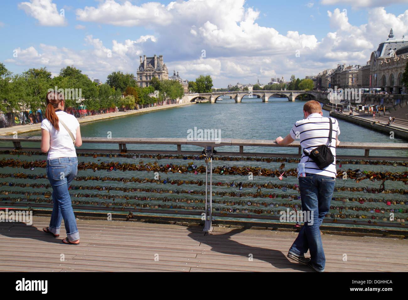France, Europe, Français, Paris, Seine, la Rive gauche, Berges de Seine, Hôtel de ville, administration locale, immeuble, Passerell Banque D'Images