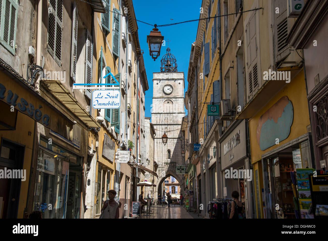 Tour de la ville, Apt, Provence-Alpes-Côte d'Azur, France, Europe Photo Stock