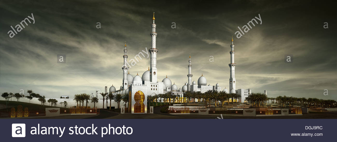 Le cheikh Zayed Bin Sultan Al Nahyan Mosque in Abu Dhabi. Photo Stock