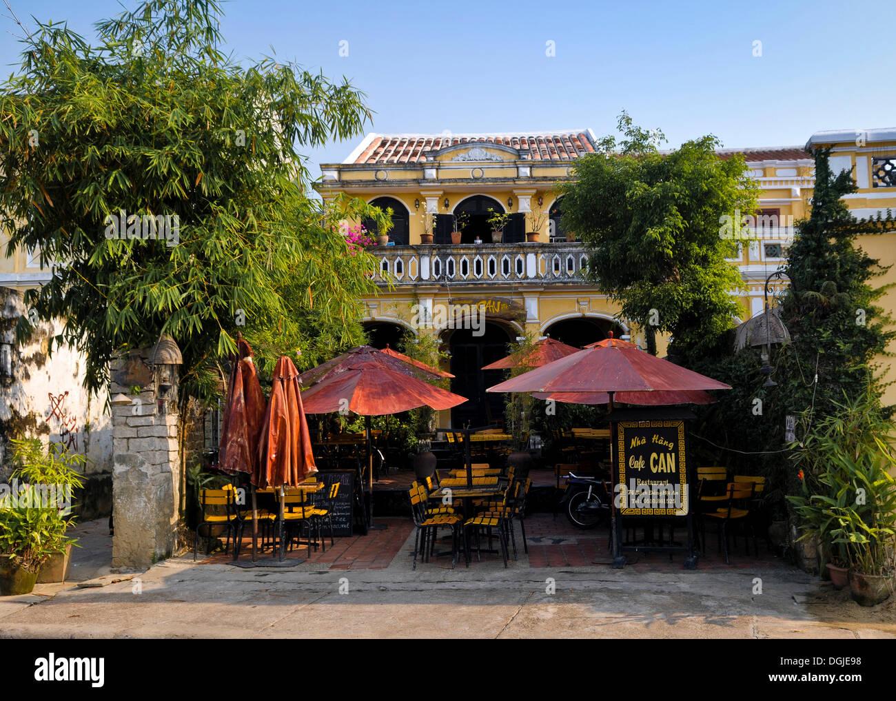 Cafe de la chaussée à Hoi An, Vietnam, Southeast Asia Photo Stock