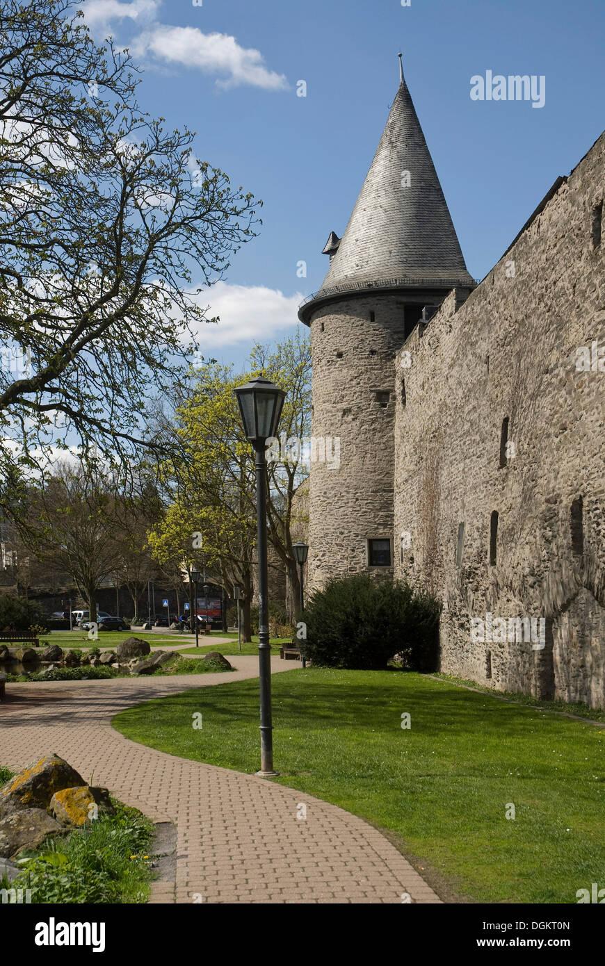 Tour de la muraille, Andernach, Rhénanie-Palatinat Photo Stock