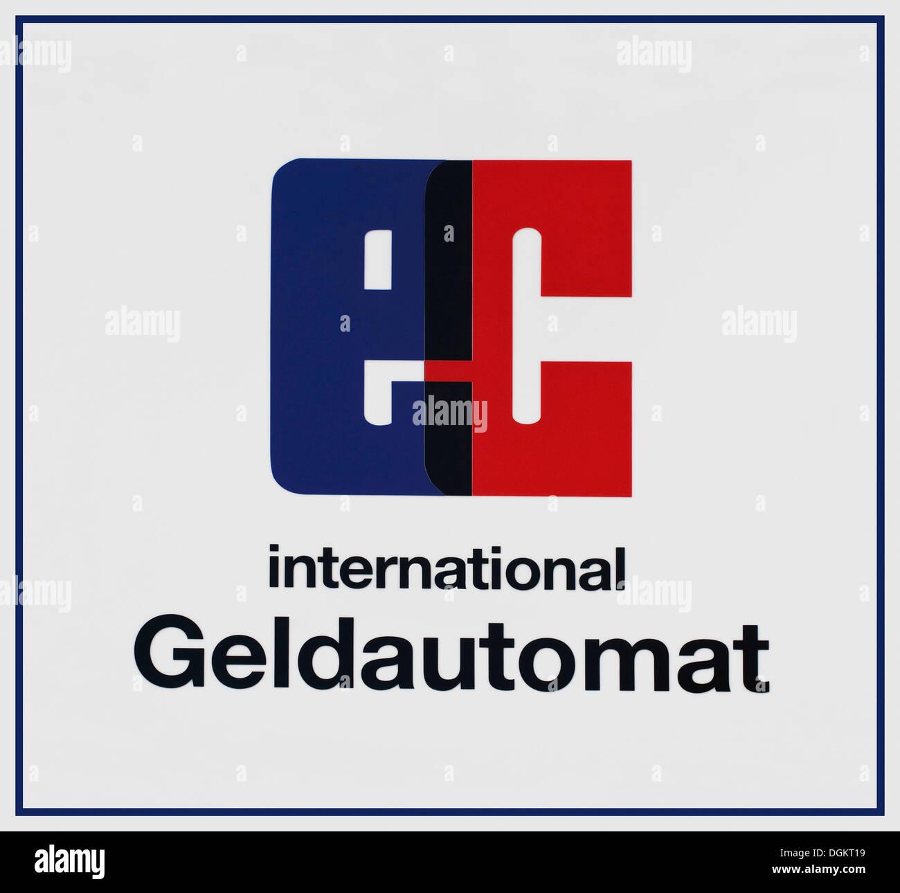 Ce signe, ATM international Photo Stock