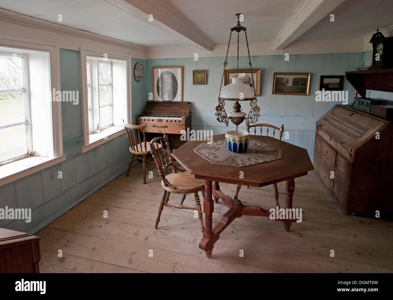 L Interieur D Une Vieille Maison De La Sod Dans Le Musee Skogar