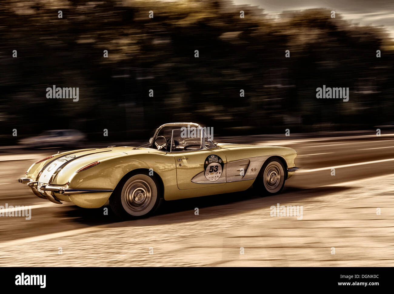 Corvette, voiture classique, la manipulation d'image, Berlin Banque D'Images