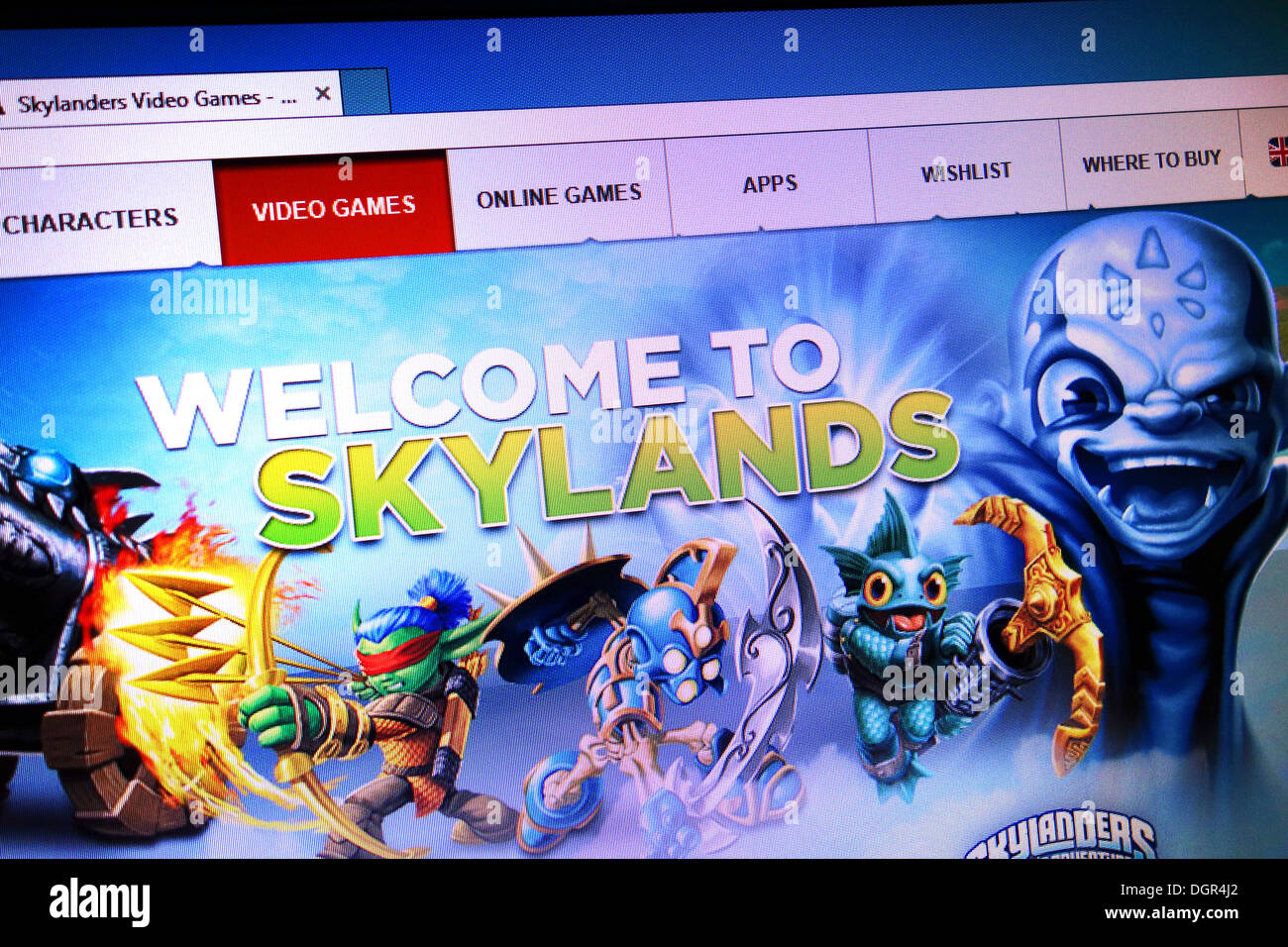 Jeu en ligne skylands Photo Stock