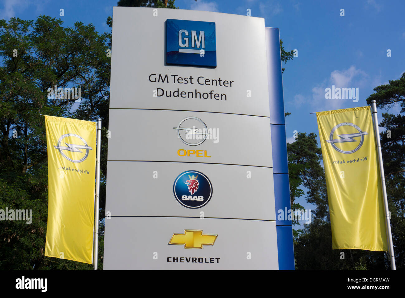 General Motors, GM, Centre d'essai de Dudenhofen, Hesse Photo Stock