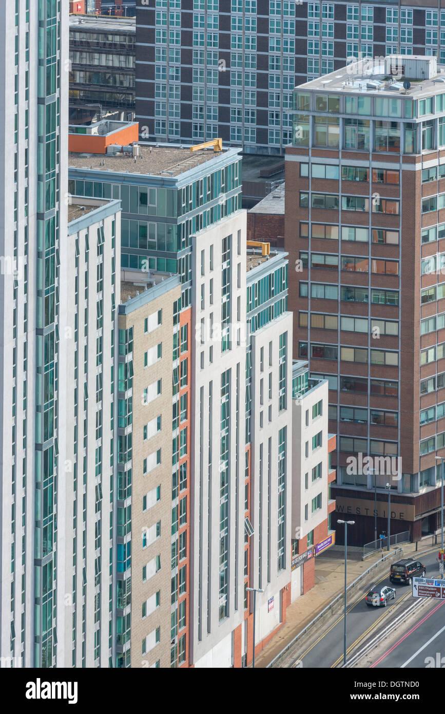 Appartements à Birmingham, West Midlands, England, UK Photo Stock