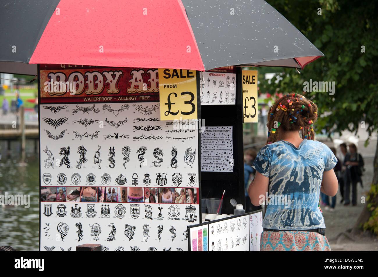 Tatouage temporaire Body Art Sticker Autocollants Transfert Photo Stock