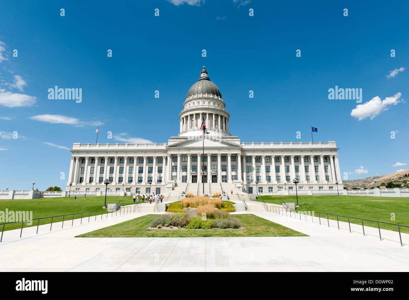 Capitol, Cour suprême et le Parlement, la colline du Capitole, Salt Lake City, Utah, United States de l'Ouest, USA, United States of America Banque D'Images