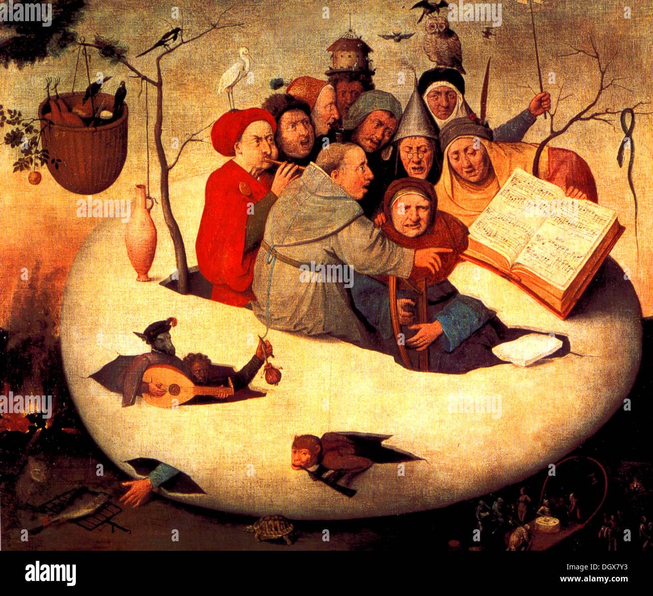 Le concert dans l'oeuf - de Jérôme Bosch, 1480 Photo Stock