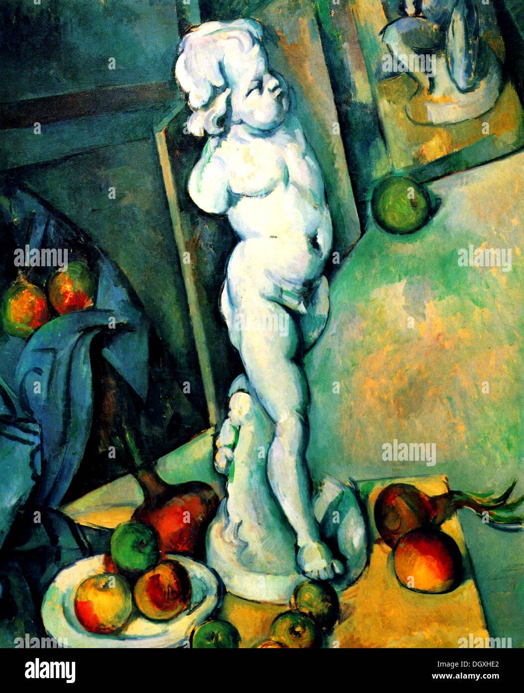 Nature morte avec chérubin - par Paul Cézanne, 1895 Photo Stock