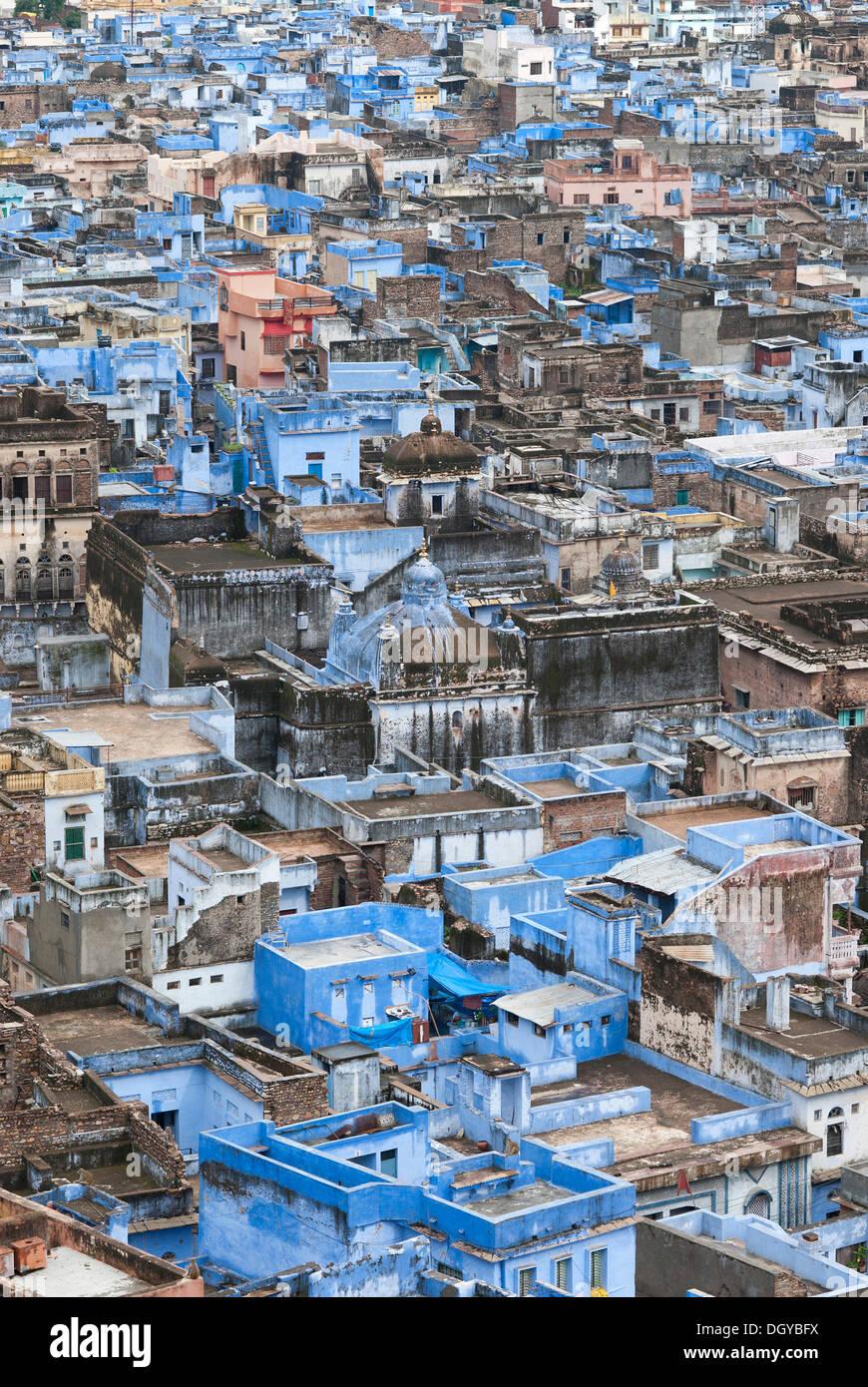 La ville bleue de Bundi, Rajasthan, Inde, Asie Banque D'Images