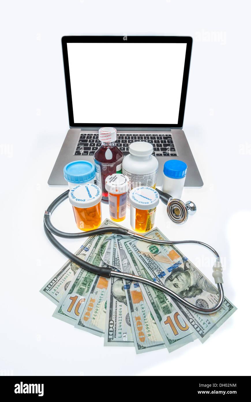 Coût des soins de santé Photo Stock