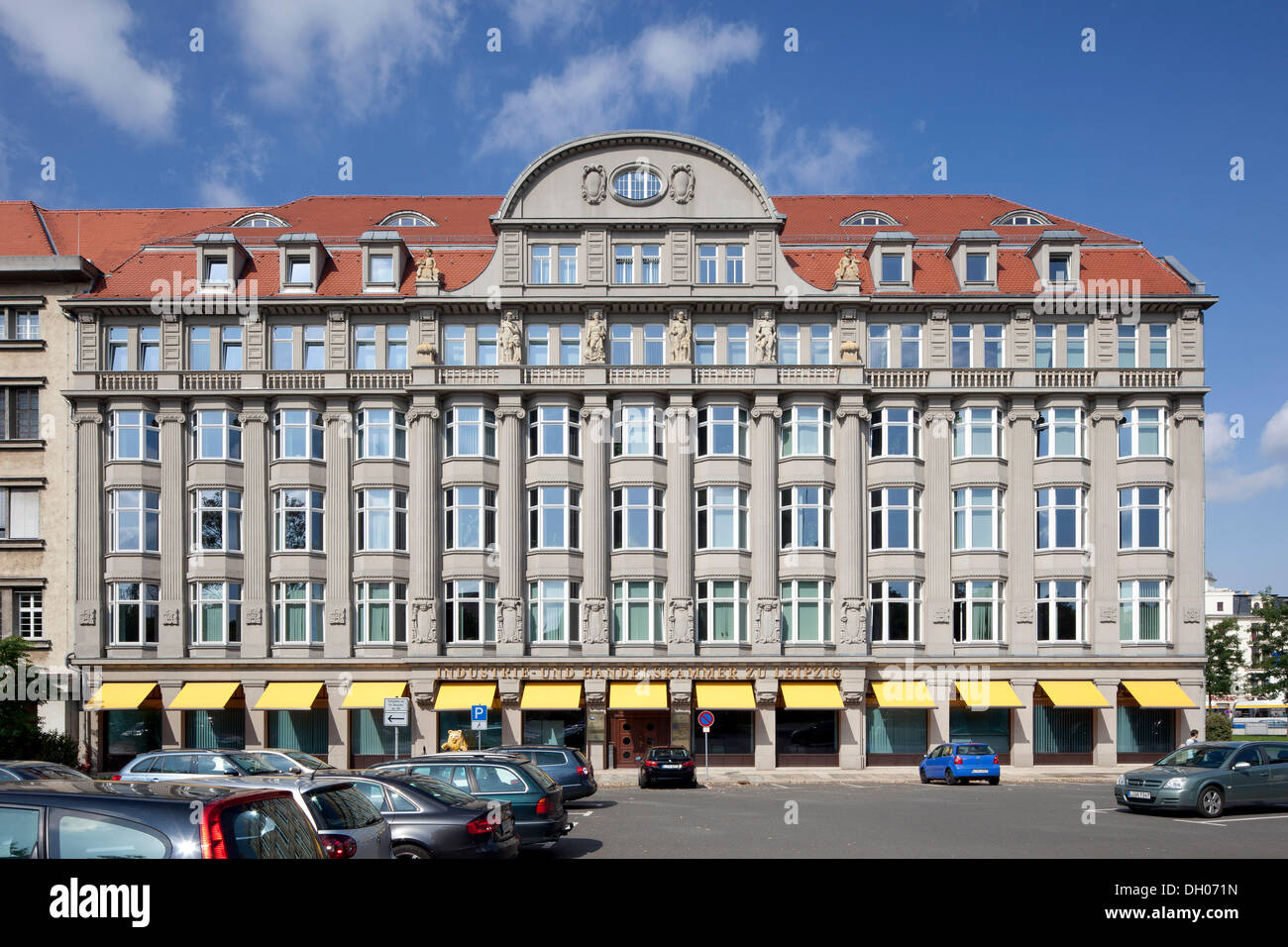 Bâtiment de la Chambre de Commerce et d'Industrie, Leipzig, PublicGround Photo Stock